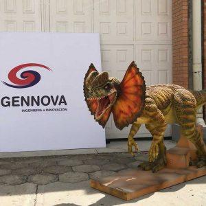 Dilofosaurio Dinosaurio Robot Animatrónico