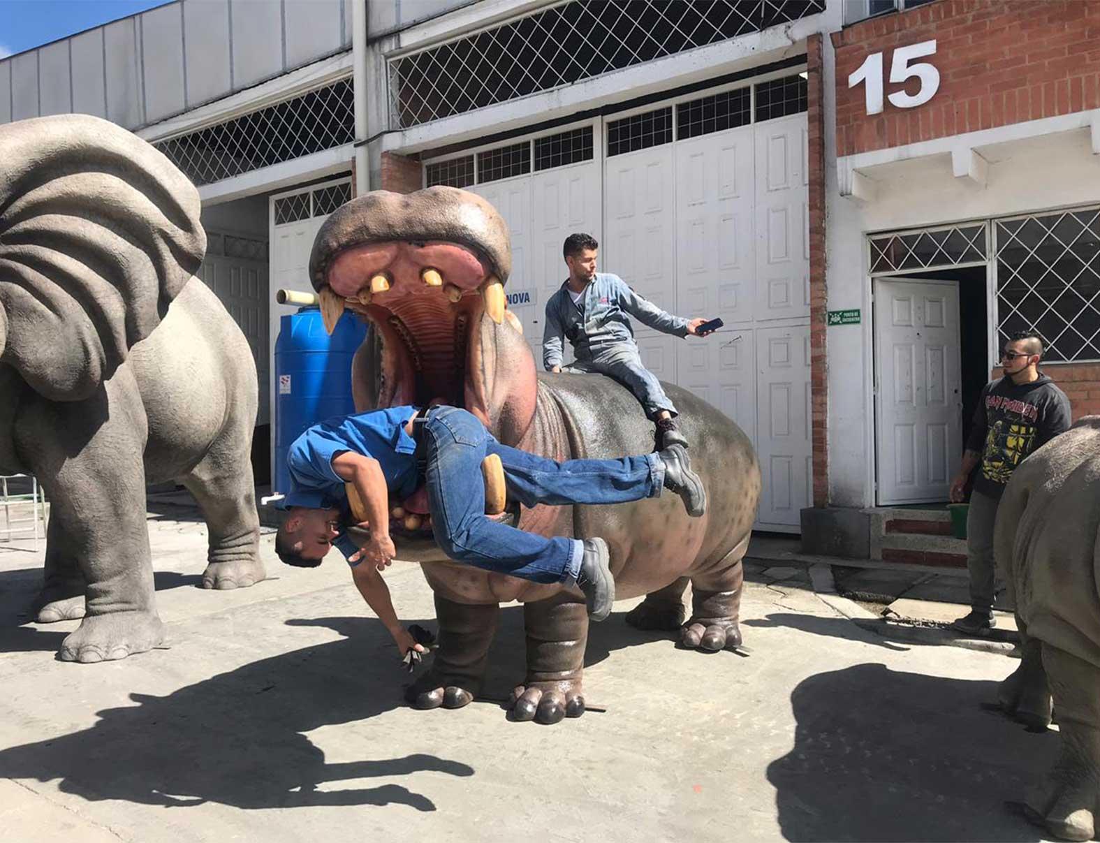 Hipopótamo Animales Animatrónicos Robots