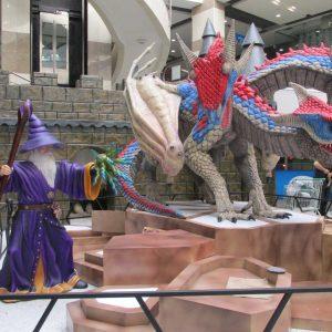 Dragón de Tres Cabezas Animatrónico