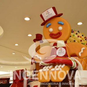 Animatronic and Interactive Gingerbread Cookie.