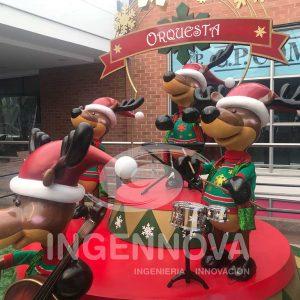 Animatronic and Interactive Christmas Reindeers